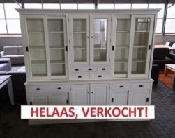Wandkast wit TEAK (B-Keus). Normaal € 2.195,00 nu slechts € 899,00!