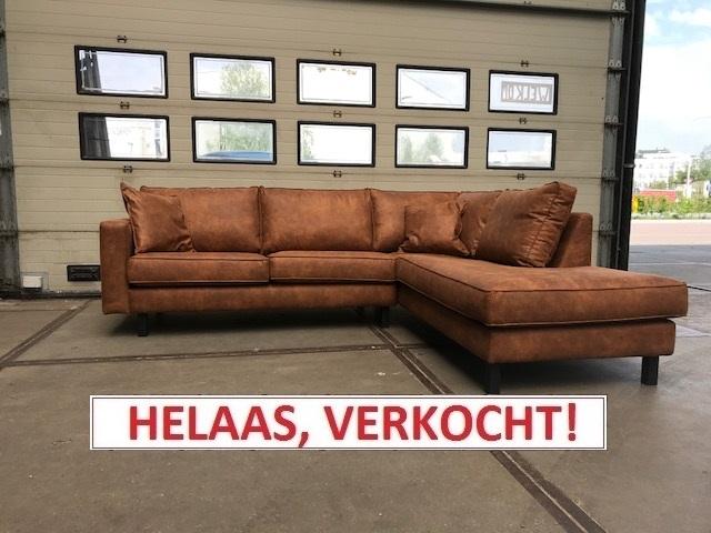 Hoekbank LV Cognac. Normaal € 1.499,00 nu slechts € 799,00!